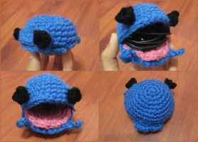 Crochet Whale Earphones Holder by neonjello17