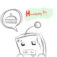 I'm hungry XD by MetallerLucy