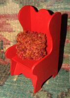 Little Red Chair and Pillow by sej