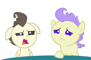 Pound Cake and Cream Puff are shocked by 3D4D