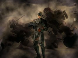 Metal Gear Solid 4 Wallpaper by Gatman0624