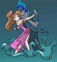 Meg with Hades by kimmycake84