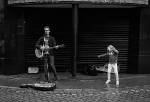 Dancing With Buskers by Wrightam
