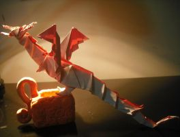 Origami Fiery Dragon by Zinnia1993