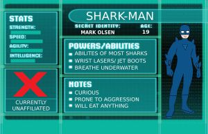 OC BIO Shark-Man by BenjaminHopkins