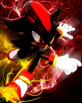 shadow the hedgehog by dan13789