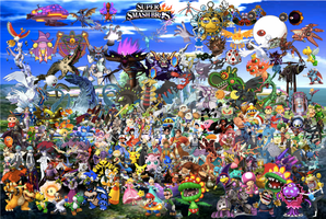 Super Smash Bros. Collaboration by DarkKnight215