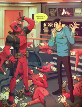 star trek x deadpool by m7781
