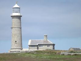 Lundy Lighthouse by foxyfellowuk
