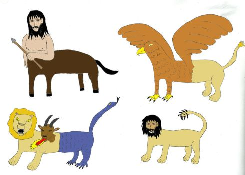 Mythical Creatures- Hybrid beings by Tarturus