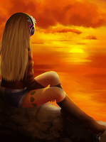Request: A Sunset for one by SurrealMime