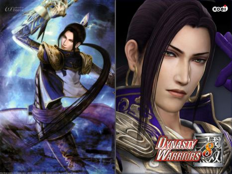 DW8 Wallpaper - Zhang He by Koei-Warrior