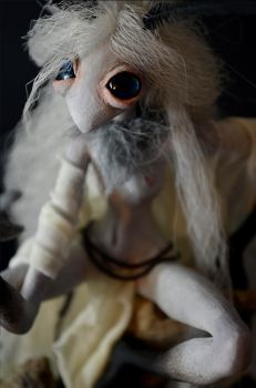Moth Witch Doll - details by falauke