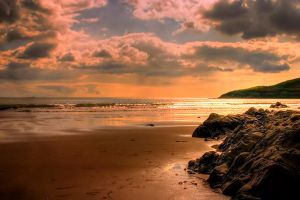 South Wales coast sunset 1 by AngiWallace