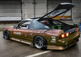 Nissan 240sx by Ophideus