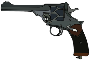 Webley-Fosbery Automatic Revolver by WhellerNG