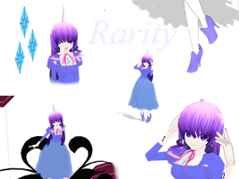Rarity My little pony MMD by MoonTheBlueNeko