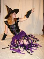 Jodi Purple Halloween Witch 50 by FantasyStock