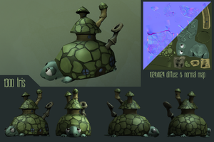 Submarine Turtle by Whalzz