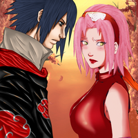 Naruto: Sasuke and Sakura collab by cheeryY