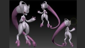 Awakened Mewtwo/Mewthree by leenem