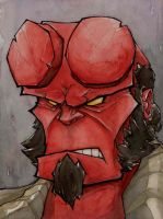 Hellboy by mjfletcher