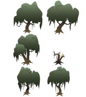 MLPOnline - Everfree Trees - recolor 1 by Shachza