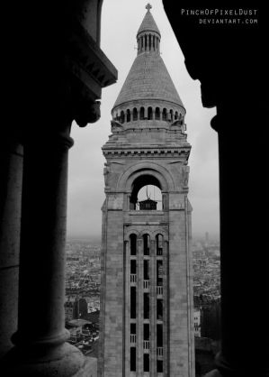 Bell Tower from Basilique du Sacre-Coeur by PinchOfPixelDust