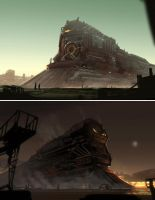 Steampunk Trains by Hideyoshi