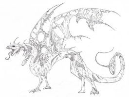 Dragon Skeleton by Mondfalke