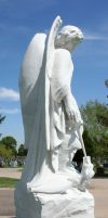 Mount Olivet Cemetery Archangel Michael 282 by Falln-Stock