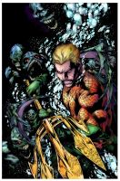 COLORS: Aquaman Issue 1 Cover by Tadpole7