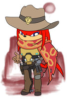 Chibi Knuckles/McCree by Sanddy273