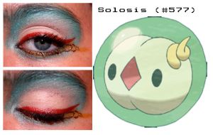 Pokemakeup 577 Solosis by nazzara