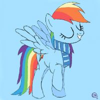 Rainbow Dash with Scarf. by NotSoCuteAndFuzzy
