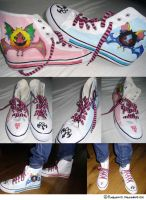 Handpainted kingdom hearts Dream eater shoes by kimbolie12