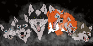 Wolf Packs Banner by goldflamingeponafox