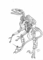 Robot Velociraptor Drawing/Sketch by THE-SONIC-COOKIE