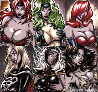 French Sketch Cards 3 by gb2k
