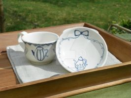 Teacup and Bowl by YousungChoiPottery