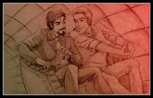 [Avengers] Steve/Tony, 'Tunnel o' Love' (old) by vejiicakes