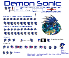 Demon Sonic Sprites V. 2.0 by Keyblade321
