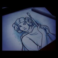 Princess Leia: New Hope by khallion