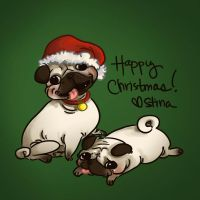Xmas puppehs by khaedin