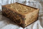Dogs and birds celtic box by GreatShinigami