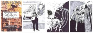 War of the Worlds sketch cards 1 by Bowthorpe