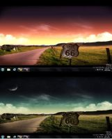 Windows 7 route 66 theme by curta17