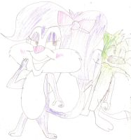 Fifi and Furball by Tinytoon70