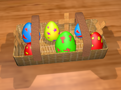 3D Easter Scene by yoshielectron