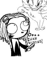 LENORE and a toony lookin kitty by SpookyDolly